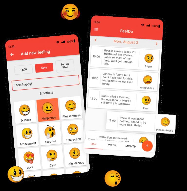 screens of FeelDo mobile app